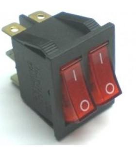 کلید کلنگی و شاسی کلید دوپل چراغ دار KCD3