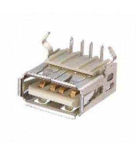 انواع سوکت USB كانكتور USB نوع A مادگي خوابيده