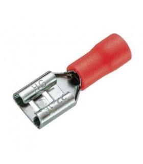 کابل شو - سر سیم سر سيم ماده كولري بزرگ/روكش دار/FDD1.25-250/قرمز