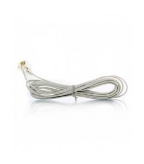 انواع سیم و رابط تلفن سیم تلفن 2 متری سفید