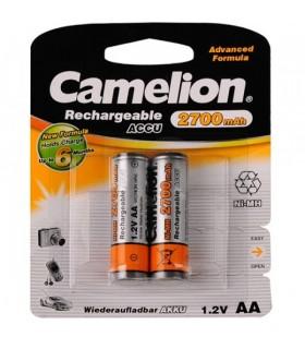 باتری شارژی قلمی دوتایی CAMELION AA 2700mAh