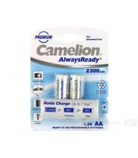 باتری شارژی قلمی دوتایی CAMELION AA 2300mAh