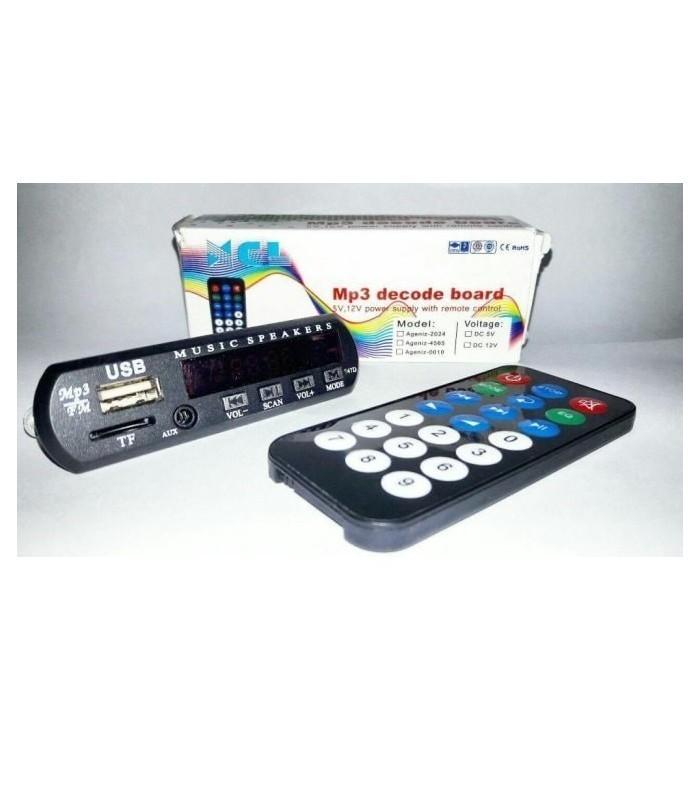 اواع USB/FM player برد 12ولت USB player با قابلیت بلوتوث و رکورد