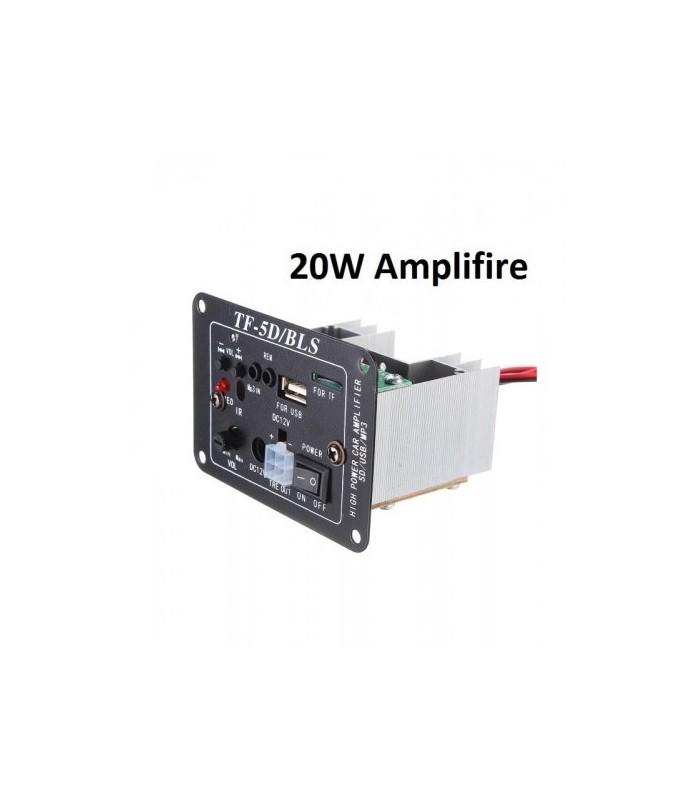 اواع USB/FM player پنل آمپلی فایر 20 وات فلش خور ساب و تیوتر دار