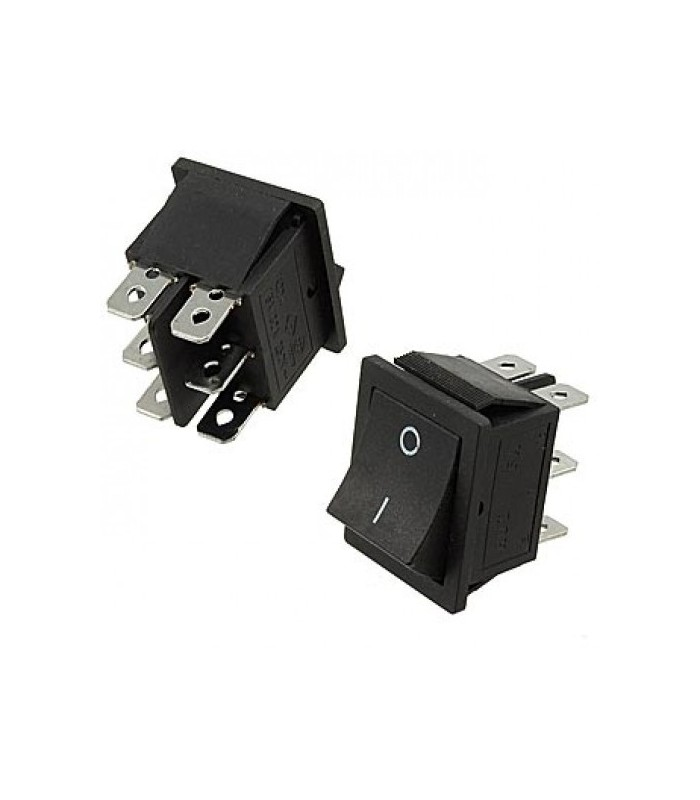الکترونیک کلید راکر 2 حالته 27*22 - بدون چراغ شیش پایه