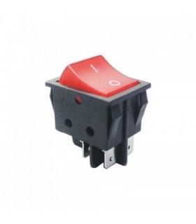 کلید راکر بزرگ استاندارد چراغدار قرمز 25 امپر درجه 1