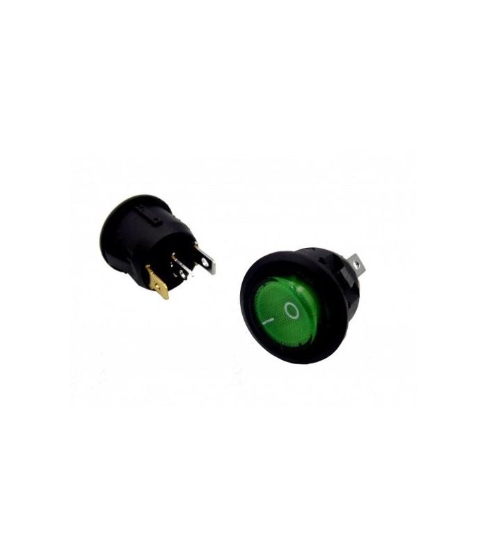 کلید کلنگی و شاسی کلید راکر گرد چراغ دار سبز