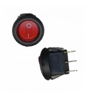کلید راکر گرد چراغ دار قرمز