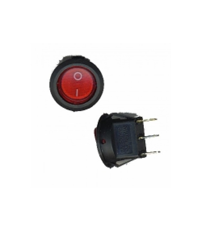کلید کلنگی و شاسی کلید راکر گرد چراغ دار قرمز