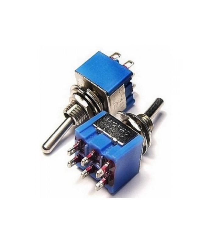 کلید کلنگی و شاسی کلید کلنگی 6 پایه دوحالت MTS-202