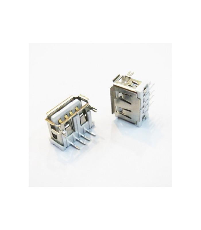 انواع سوکت USB كانكتور USB نوع A خوابيده روبردي كوتاه