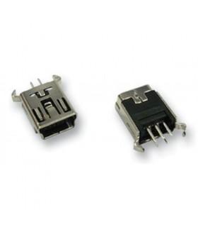 انواع سوکت USB کانکتور ایستاده MINI USB