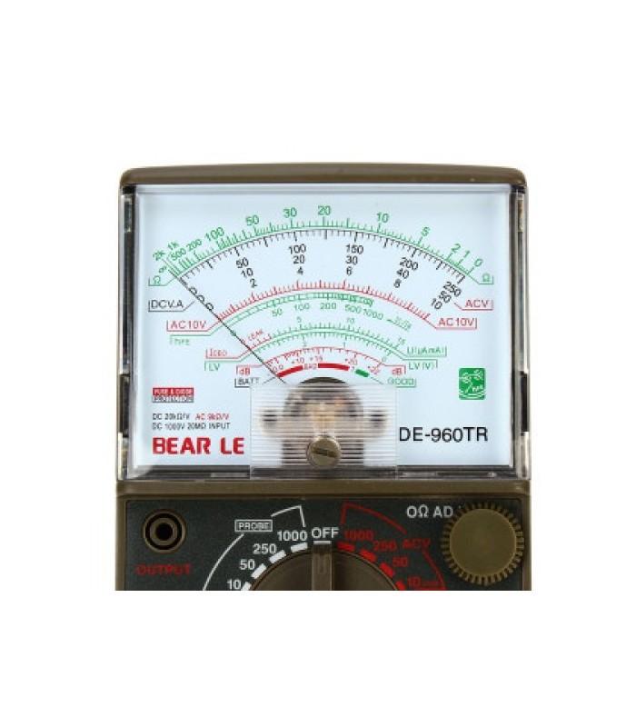 انواع اهمتر و مولتی متر اهمتر عقربه اي DE-960TR