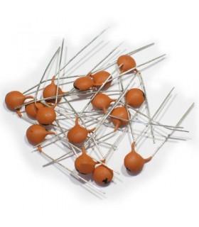 خازن 10 نانو فاراد عدسی/50 ولت