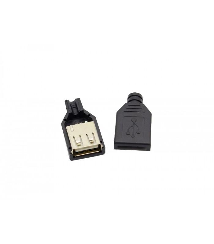 انواع سوکت USB کانکتور مادگی USB-A کابل خور