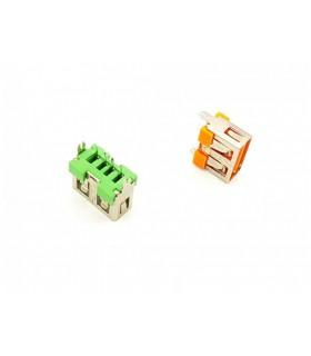 کانکتور USB نوع A مادگی کوتاه 10MM رنگ نارنجی