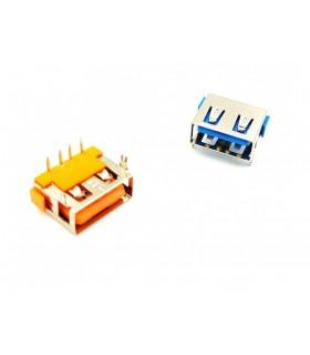 کانکتور USB نوع A مادگی کوتاه 10MM رنگ ابی