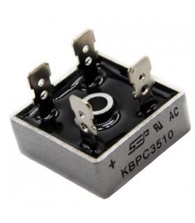پل دیود مربعی فلزی 35 امپر 1000 ولت مدل KBPC3510