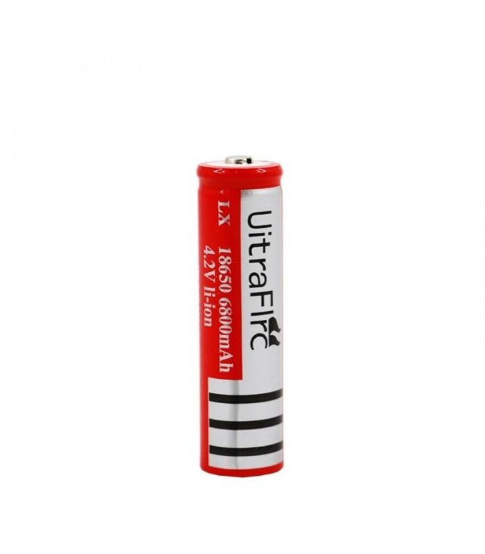 باتری 18650 لیتیوم 4.2 ولت شارژی 6800 میلی امپر اولترا فایر-ultra fire