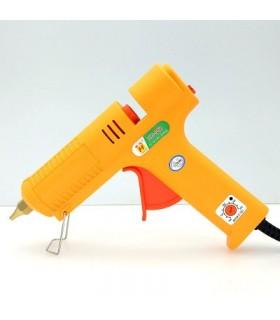 دستگاه چسب حررتي بزرگ كليد دار درجه متغير زرد 962