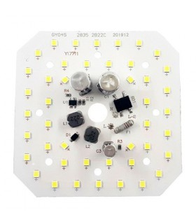 برد LED آلومينيومي 220 ولت 50 وات مهتابي مربعي