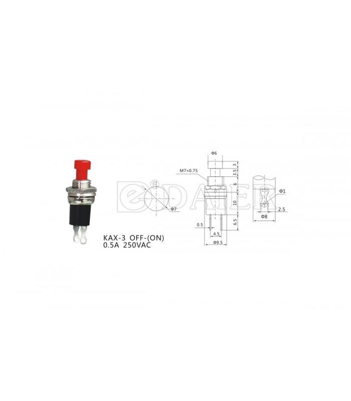 کلید کلنگی و شاسی شستی سر قرمزKAX-3