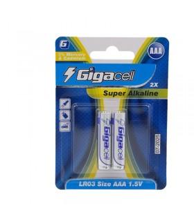 باتری Gigacell نیم قلمی 1.5 ولتی کارتی 2 عددی Alkaline مدل LR03