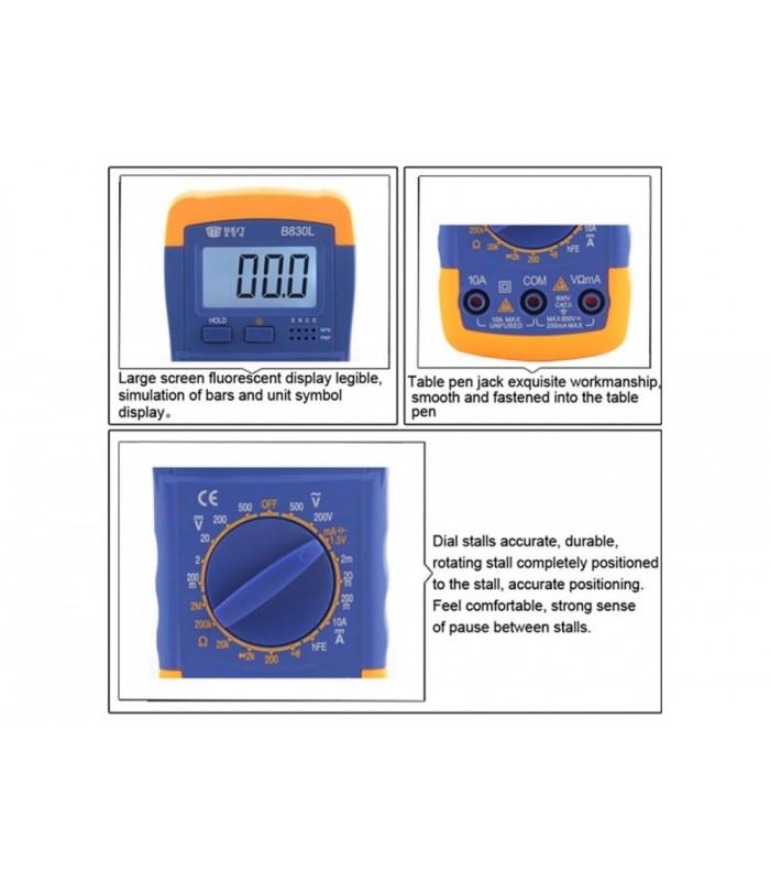 مولتی متر دجیتال مدل A830L