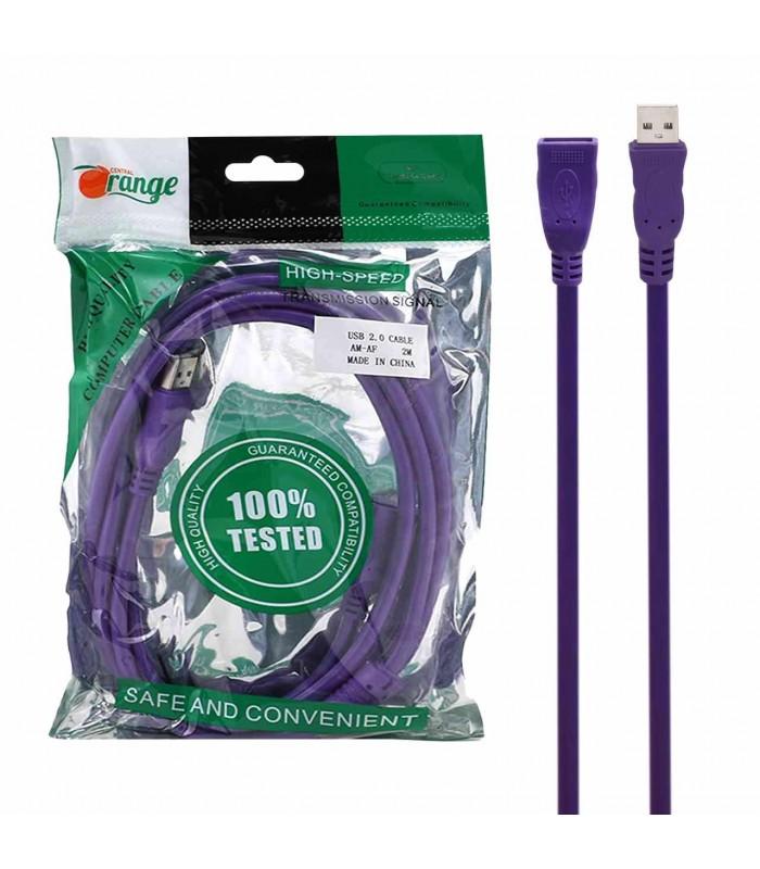 کابل افزایش طول 2 متری USB-2.0 برند ORANGE