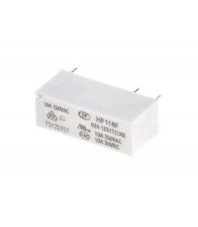 رله 24 ولت پایه معکوس 24 پایه 10 آمپر HONGFA HF118F-024-1ZS1T