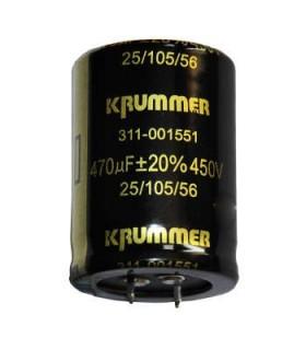 خازن 470UF 450V برند KRUMMER