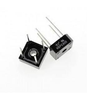پل دیود مربعی 6 امپر 1000 ولت KBPC610