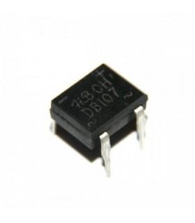 پل دیود 1000V-1A مربعی DB107 پکیج DIP